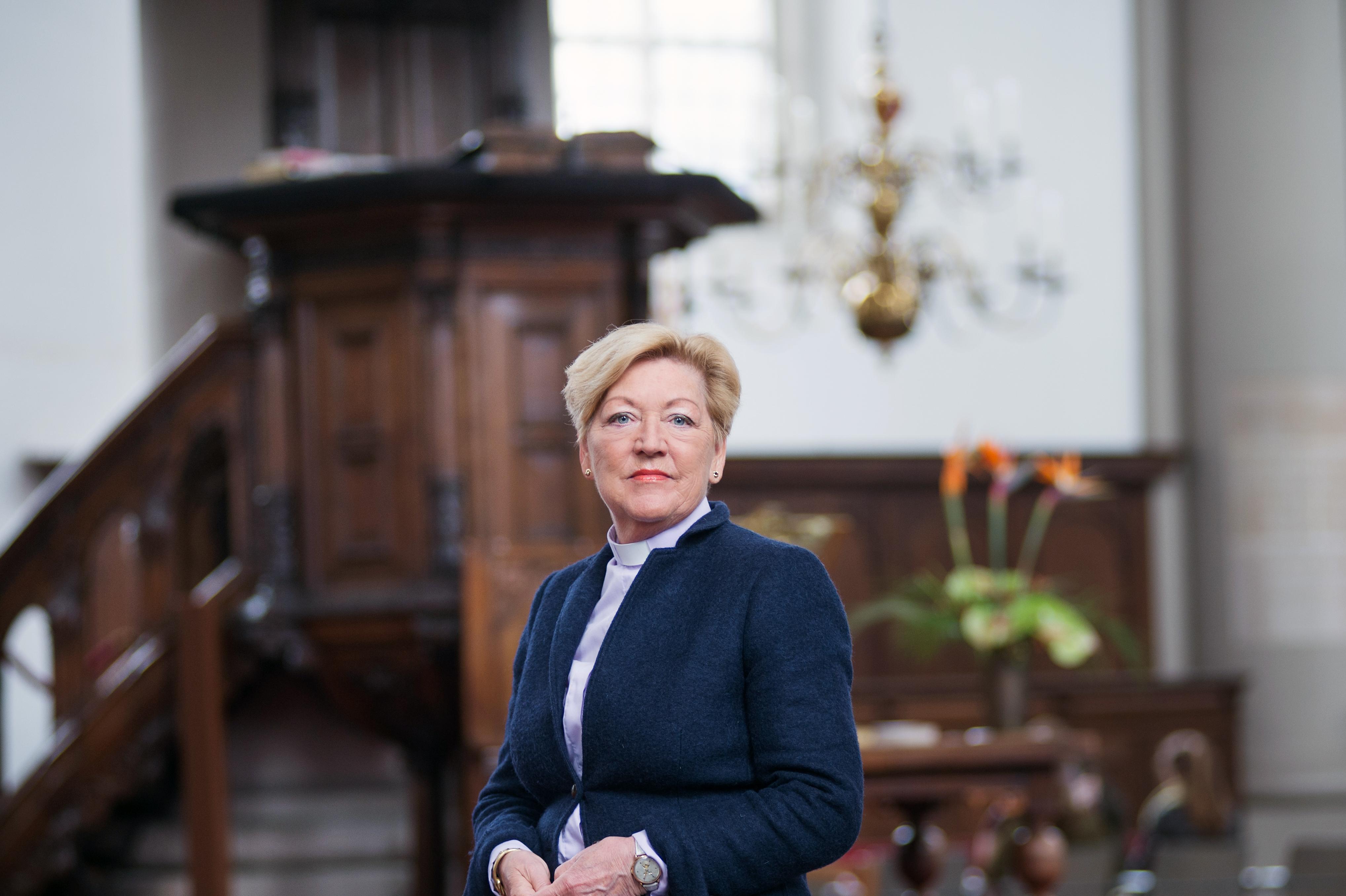 Predikant Fokkelien Oosterwijk neemt afscheid van de Westerkerk