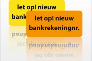 Gewijzigde bankrekeningnummers (per 1-11-2018)